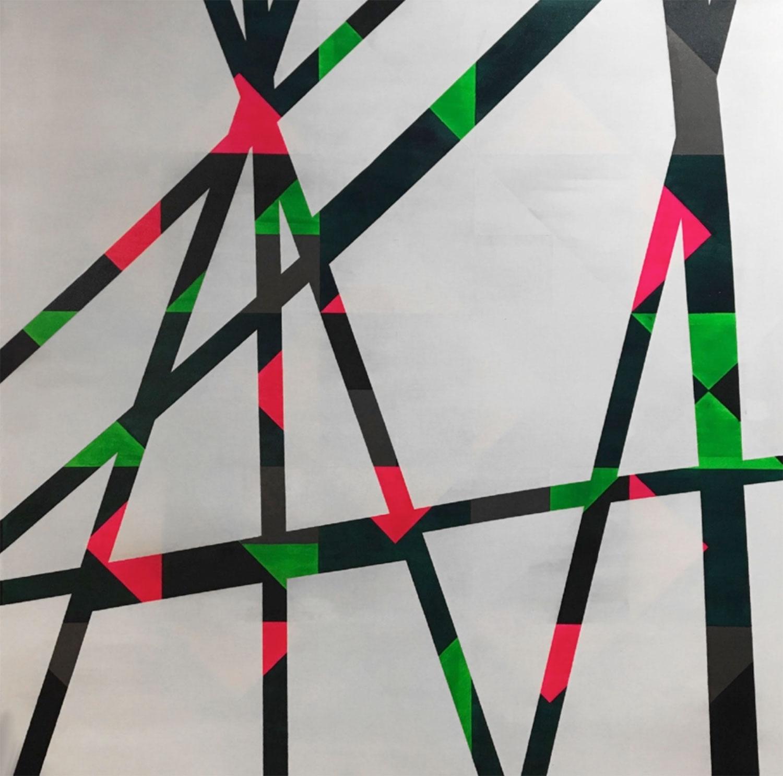 "Modern Tipi: Roberte , 2012 Acrylique sur toile 60 x 60""."