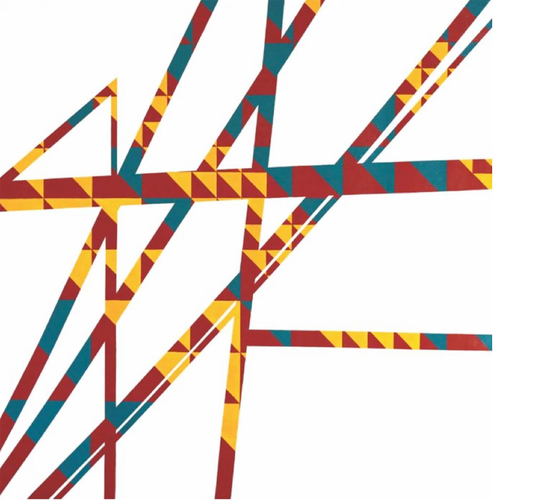 """Modern Tipi: Brigitte , 2012 Acrylique sur toile 60 x 60""""."""