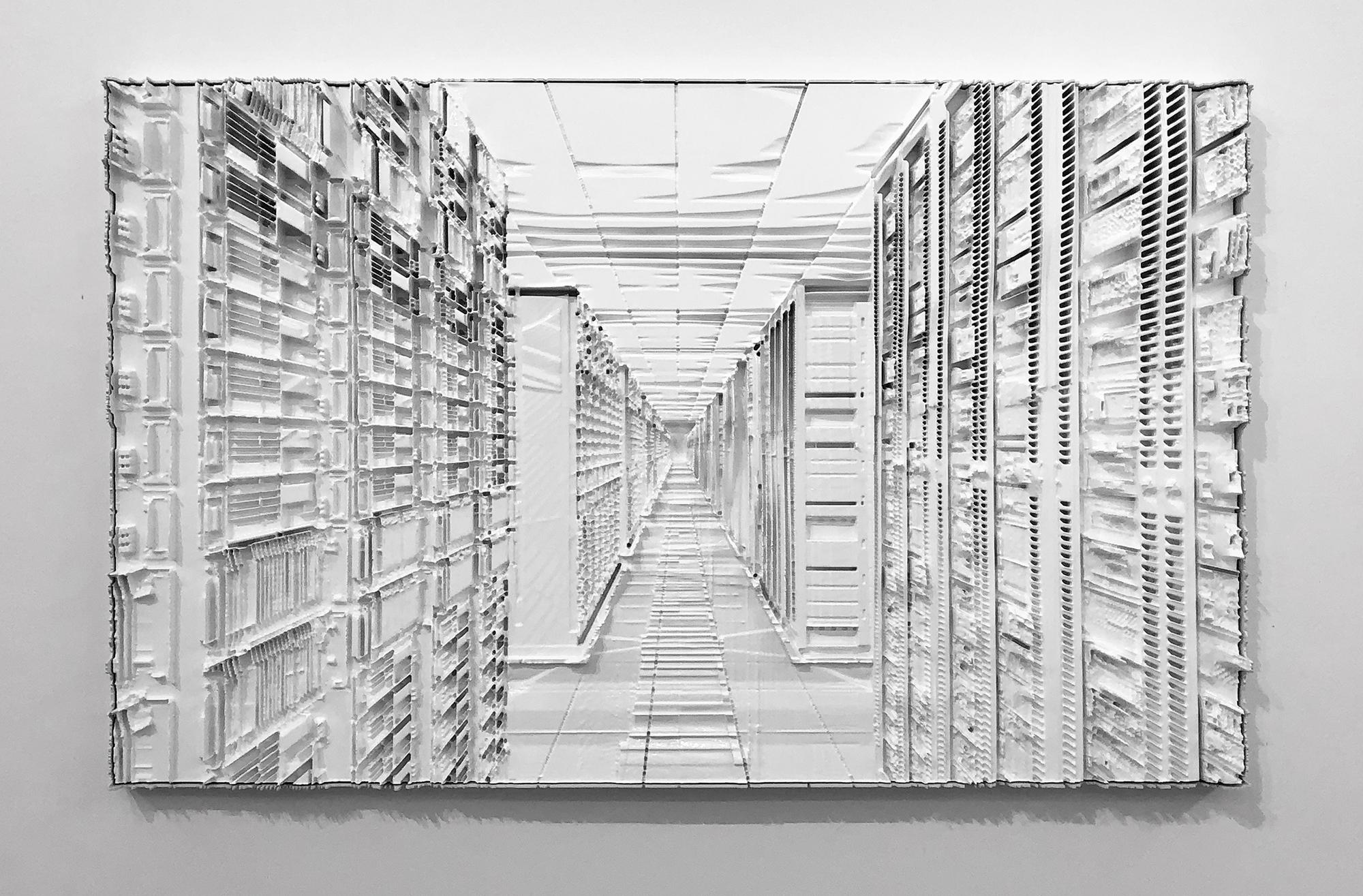 "Sauvegarde 1 , 2019,Mousse haute densité, epoxy, epoxy,36"" x 58"""