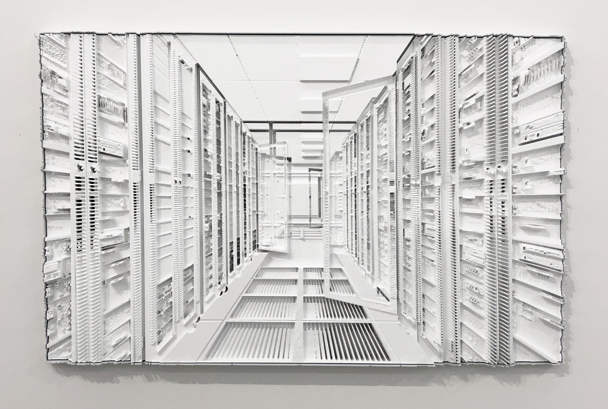 "Sauvegarde 2 , 2019, Mousse haute densité, epoxy, epoxy , 36"" x 58"""