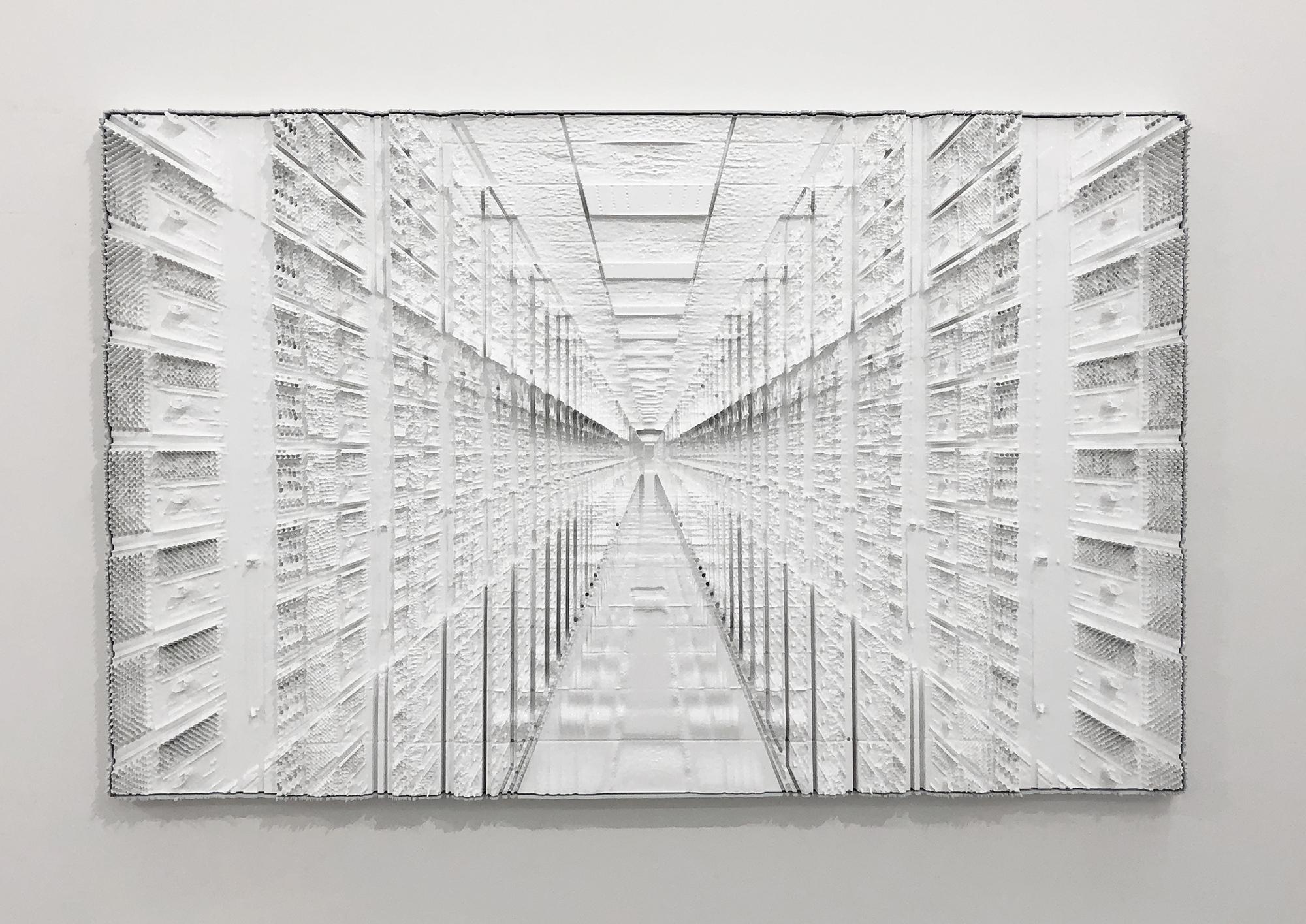 "Sauvegarde 3 , 2019, Mousse haute densité, epoxy, epoxy , 36"" x 58"""