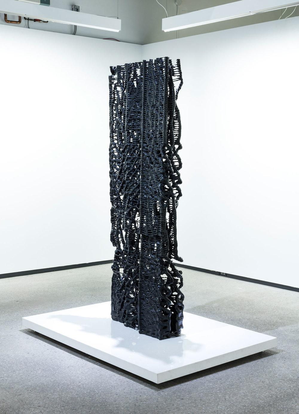 """Monolithe , 2016, Ed. 1/1, Bronze, patine, 85"""" x 28"""" x 10""""."""
