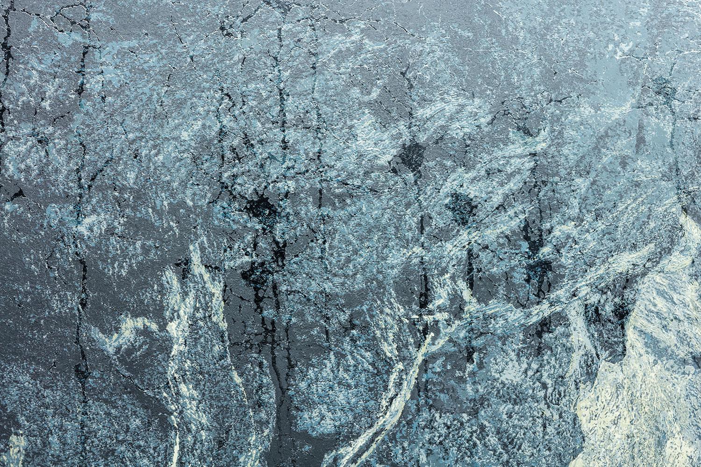 """Percée , (Détail), 2016, Acrylique sur toile, 51 1/8"""" x 81 7/8""""."""