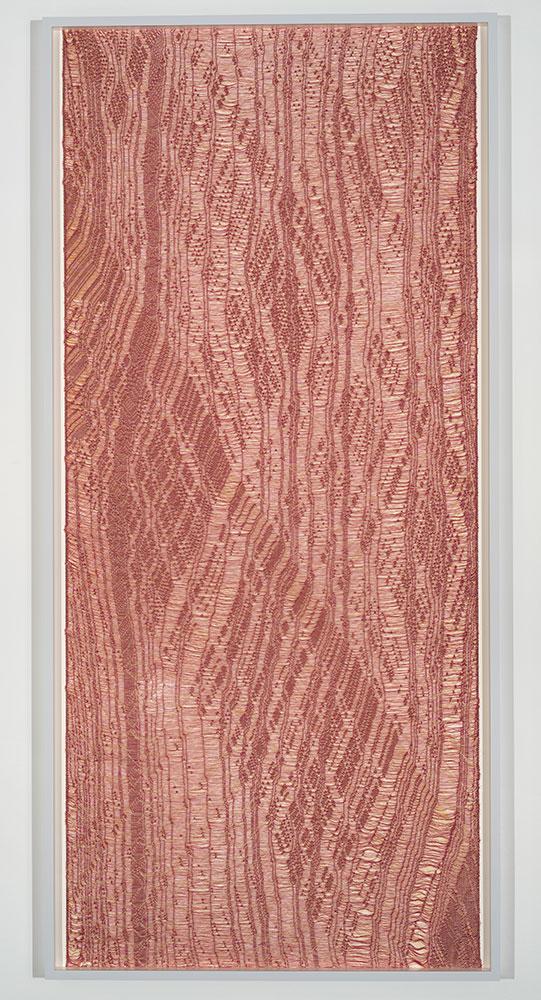 """Flottés 3 , 2015, Coton, polyester, et rayonne, 82"""" x 39"""""""