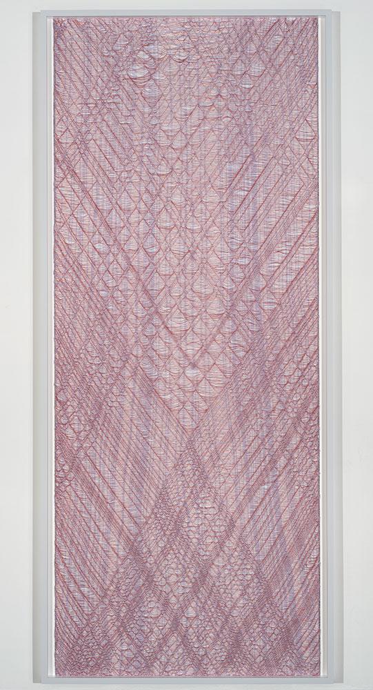 """Flottés 4 , 2015, Coton, polyester, et rayonne, 89 1/4"""" x 39"""""""