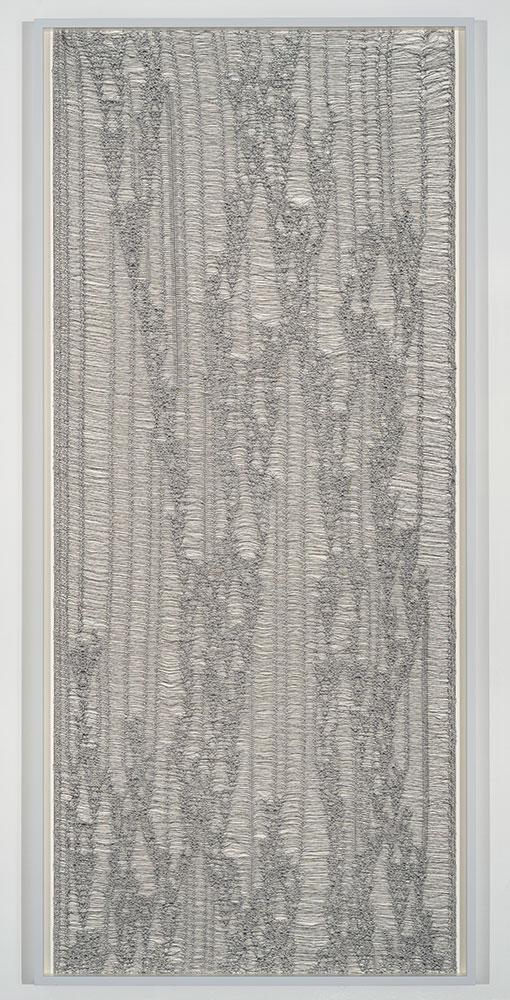 """Flottés 7 , 2015, Coton, polyester, et rayonne, 87"""" x 39 3/4"""""""