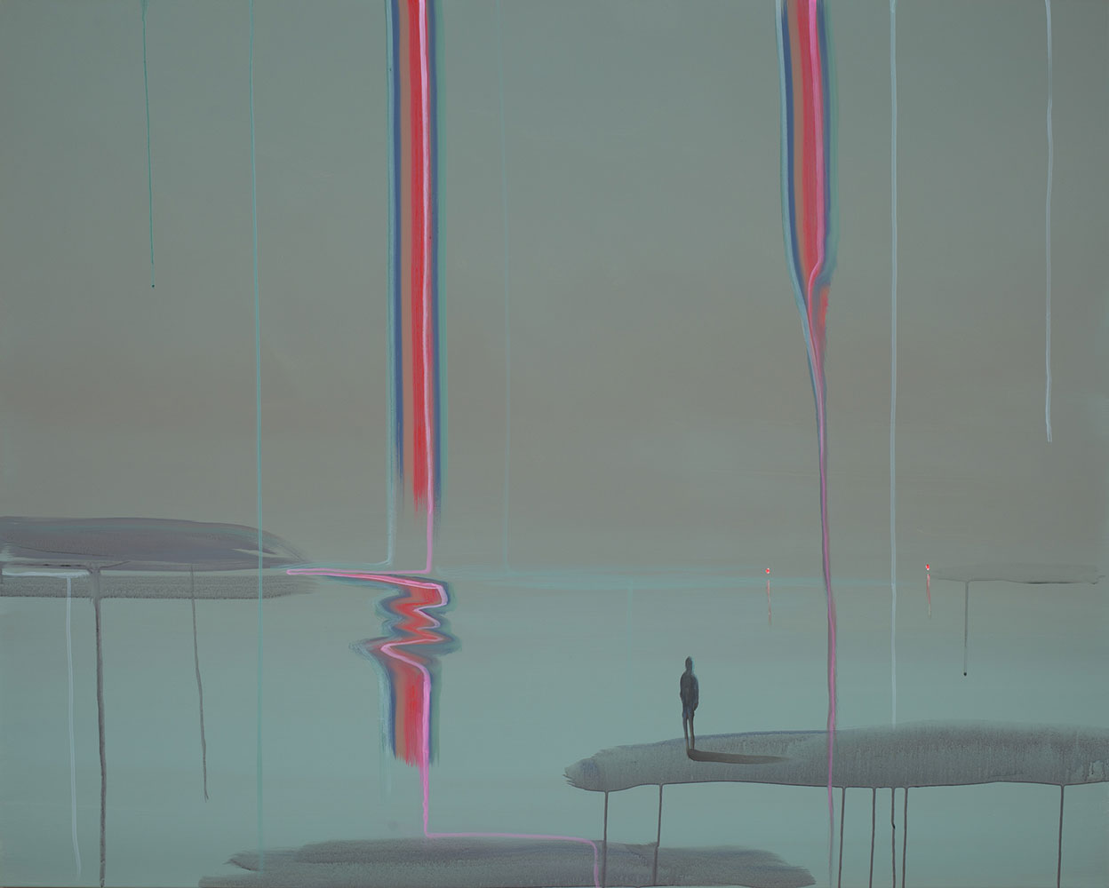 "Wanda Koop   Lone Figure (UNSEEN - SEEN) , 2019, Acrylique sur toile, 48"" x 60"""