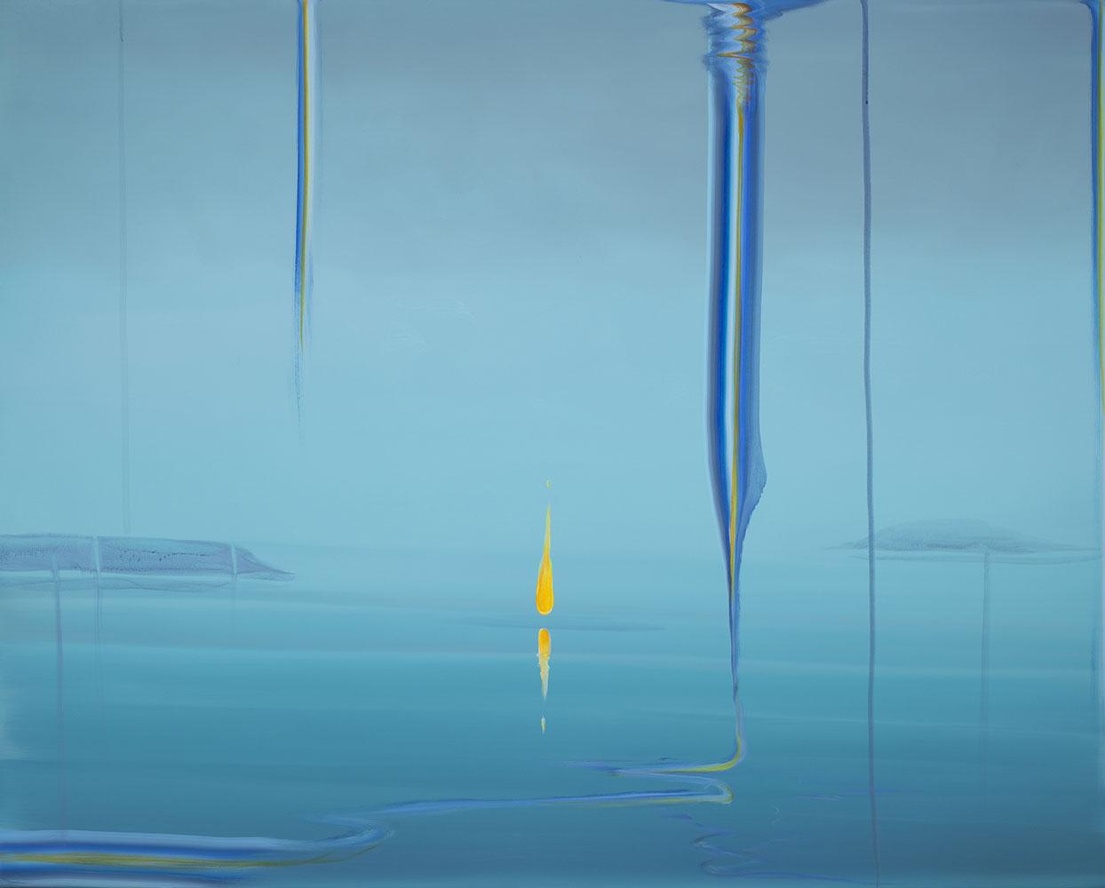 """Wanda Koop   Flame (UNSEEN - SEEN) , 2019, Acrylique sur toile, 48"""" x 60"""""""