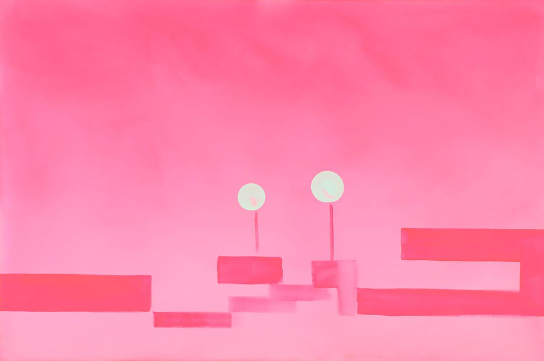 "Wanda Koop   Pink (Green Zone Series) , 2005, Acrylique sur toile, 24"" x 36"""