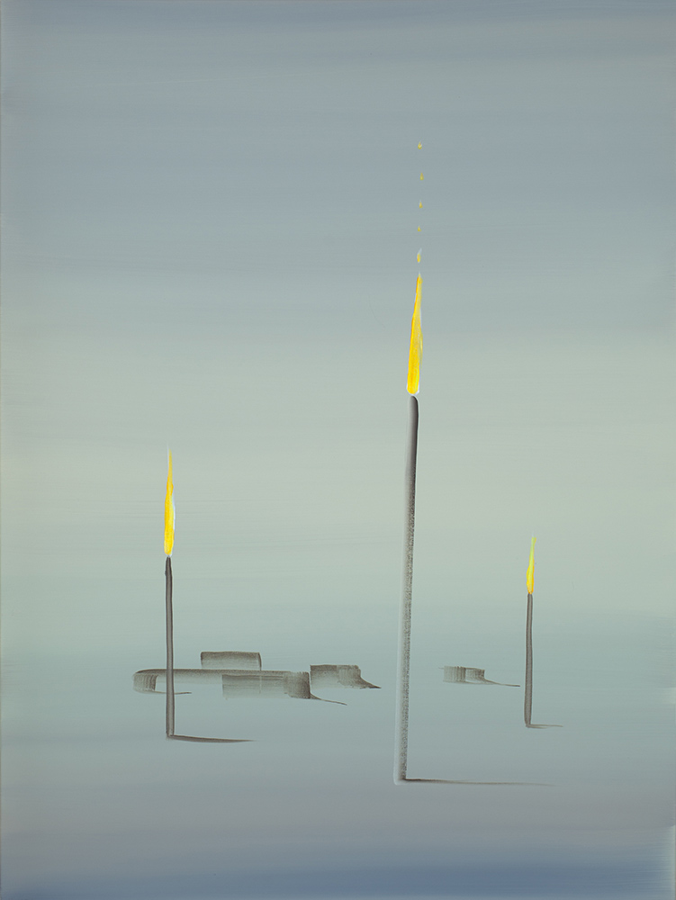 "Wanda Koop   Northern Alberta - Standing Withstanding , 2017, Acrylique sur toile tendue sur faux-cadre, 40"" x 30"""