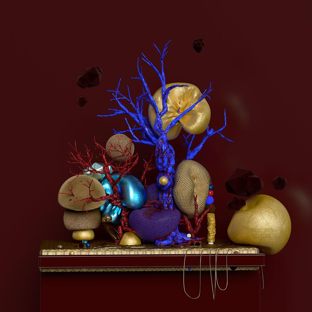 """Blue Tree , 2019, Épreuve à développement chromogène Print, 20"""" x 20"""""""