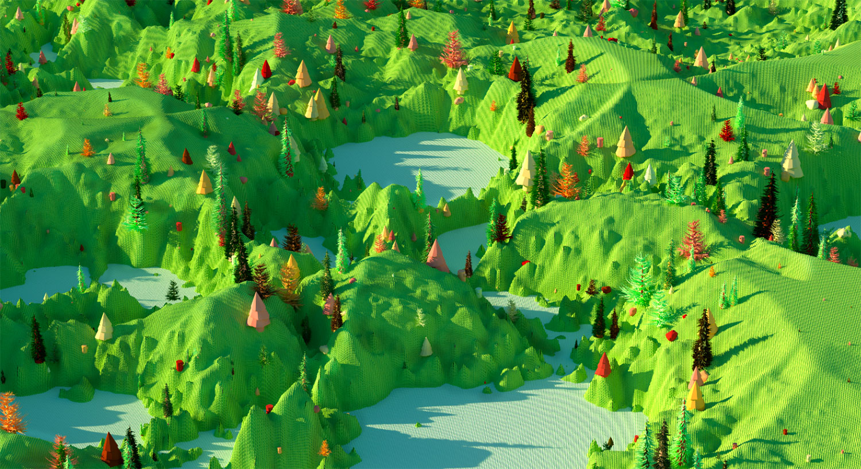 """Green Landscape , 2019, Épreuve à développement chromogène, 48"""" x 96"""""""
