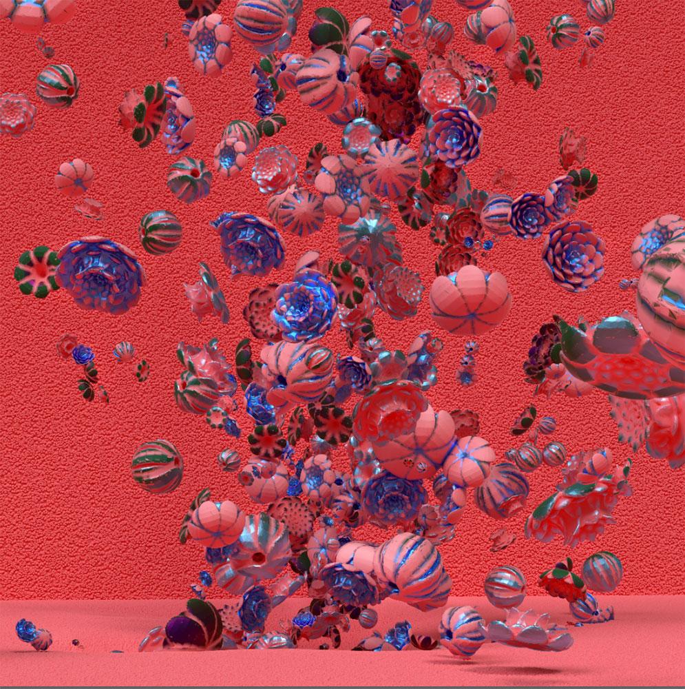 """Rosebush 3 (Red),  Épreuve à développement chromogène, 48"""" x 48"""""""
