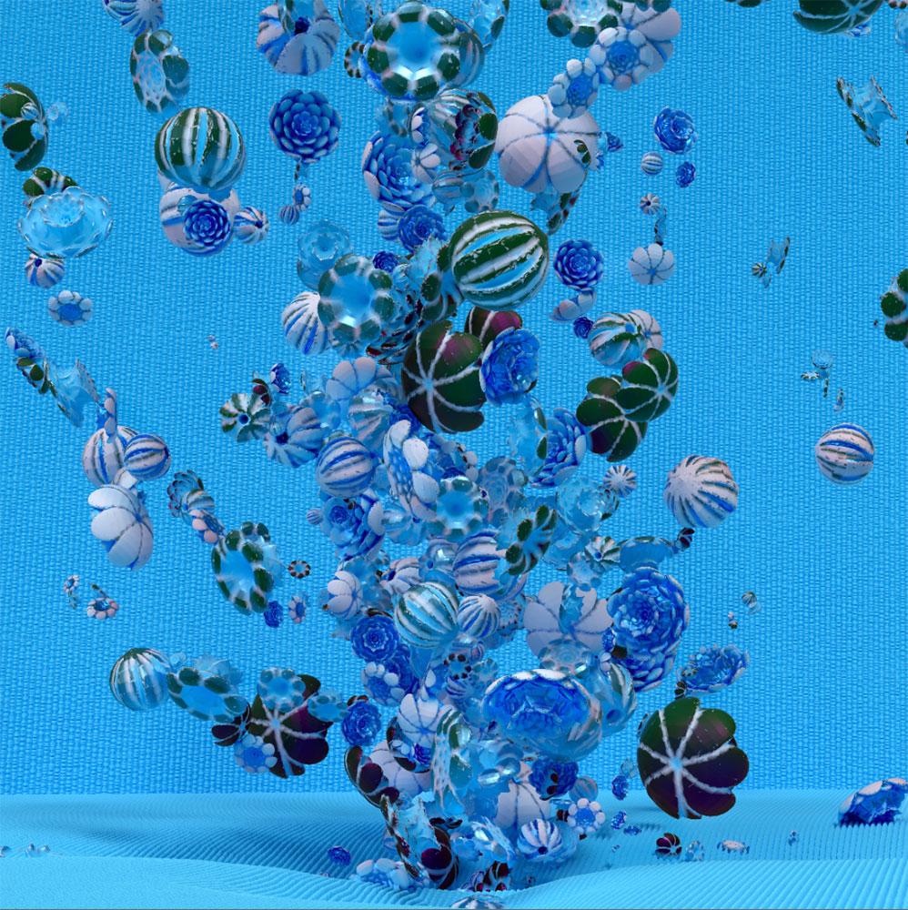 """Rosebush 4 (Blue),  Épreuve à développement chromogène, 48"""" x 48"""""""