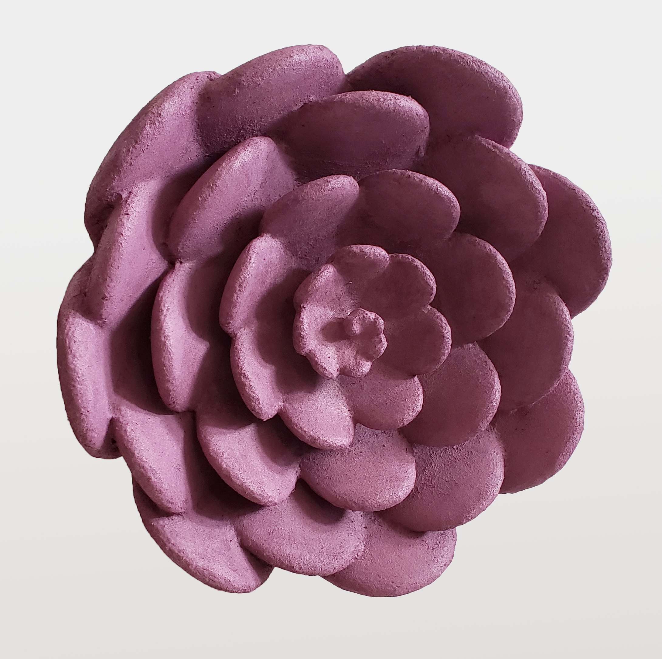 "PURPLE FLOWER LRG , 2019, Acrylique, flocage, PLA, 14 1/2"" x 5 1/2 "" x 5 1/2"""