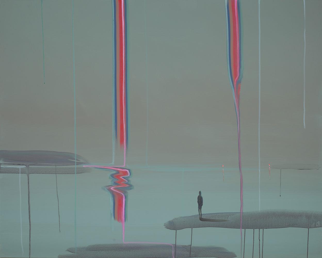"""Lone Figure (UNSEEN - SEEN) , 2019, Acrylique sur toile, 48"""" x 60"""""""