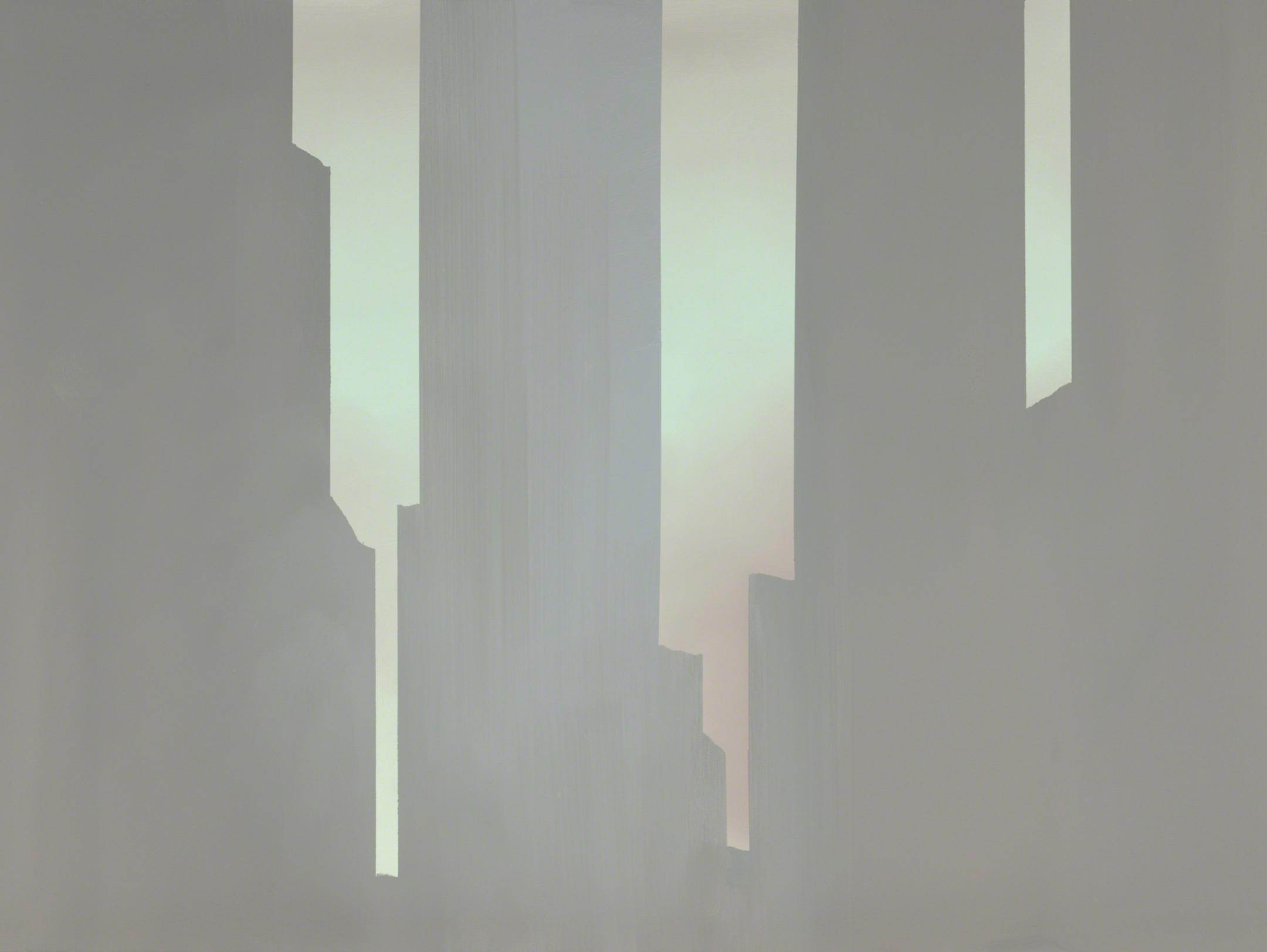 """In Absentia (Mysterious Rose Grey) , 2016,  Acrylique sur toile tendue sur faux-cadre, 30"""" × 40"""""""