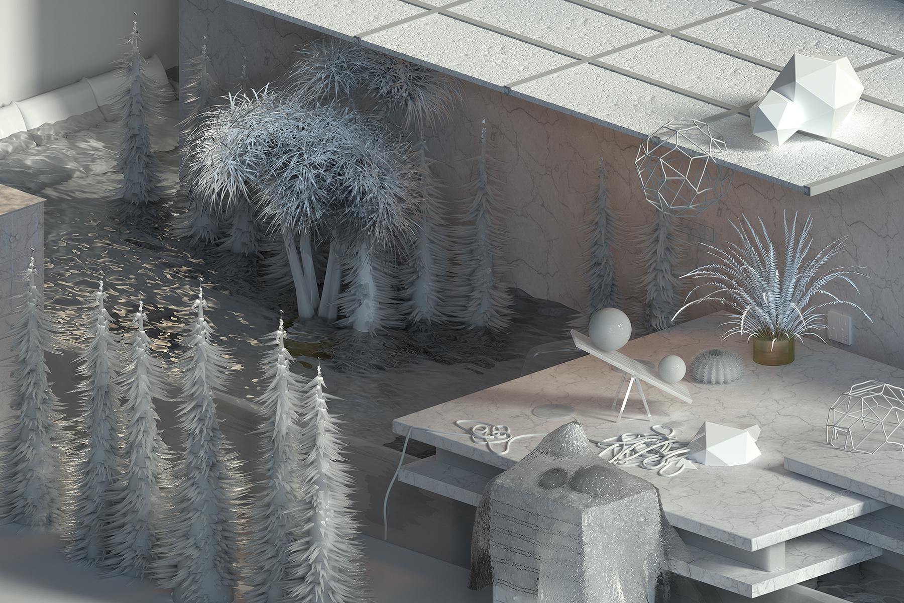 """Artist Studio , 2017 Édition de 3, Épreuve à développement chromogène, 32""""x 48"""""""