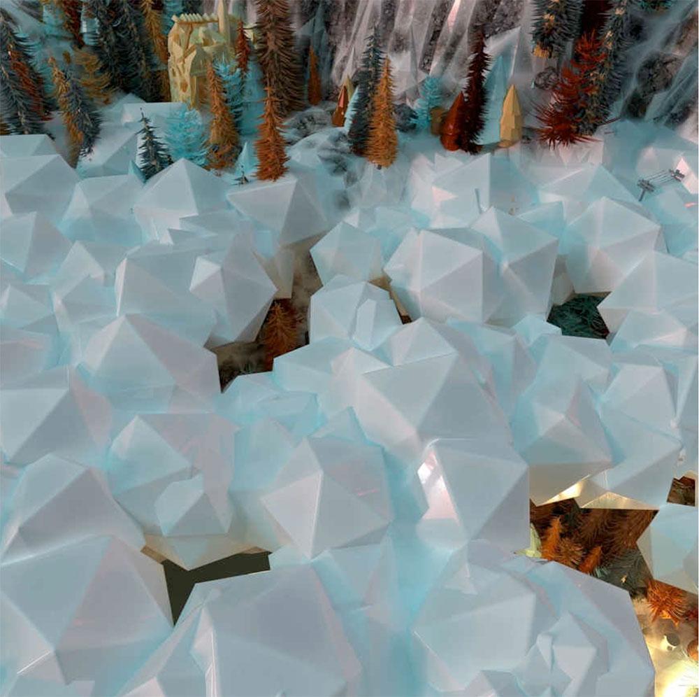 """Snow Hole , 2017, Édition de 3, Épreuve à développement chromogène, 36""""x 36"""""""