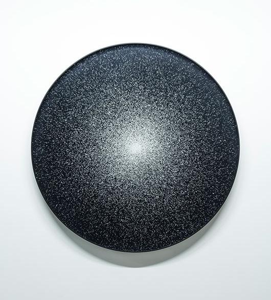 """Nicolas Baier ,  Hublot 54 Vir , 2017, Impression au jet d'encre, acrylique, acier, 36""""."""