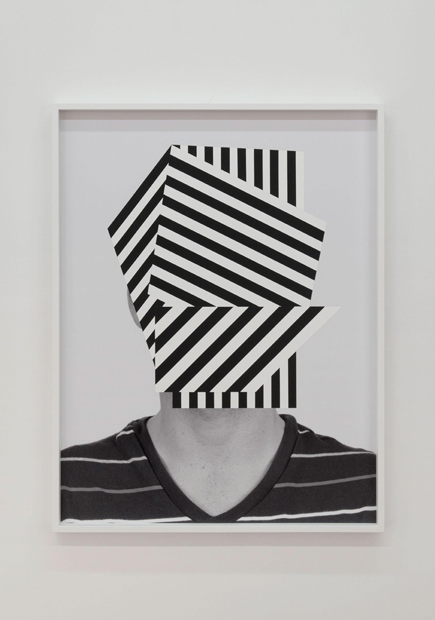 """War Boy,  2014. Acrylique sur impression au jet d'encre pigmentaire, 49"""" x 37""""."""