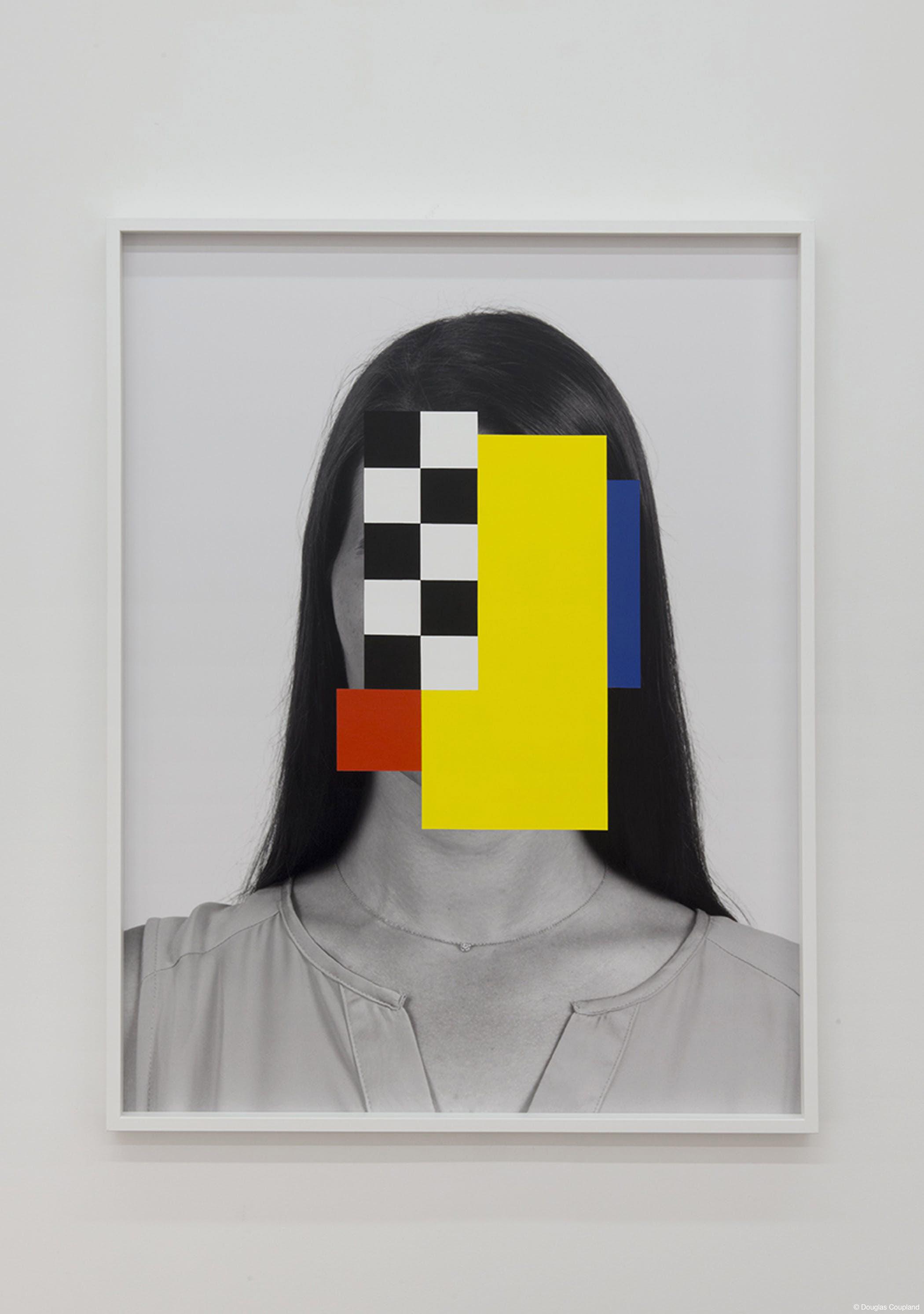 """Taxi Girl , 2014. Acrylique sur impression au jet d'encre pigmentaire, 49"""" x 37""""."""