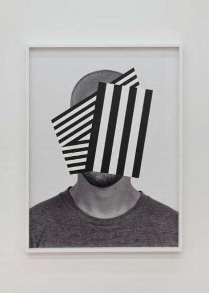 """War Boy , 2014. Acrylique sur impression au jet d'encre pigmentaire, 49"""" x 37""""."""
