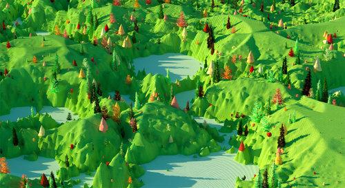 """Green Landscape , 2019. Épreuve à développement chromogène, 48"""" x 96""""."""