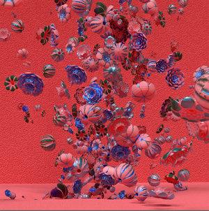 """Rosebush 3 (Red) . Épreuve à développement chromogène, 48"""" x   48""""."""