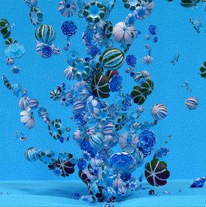 """Rosebush 4 (Blue) , Épreuve à développement chromogène, 48"""" x   48""""."""