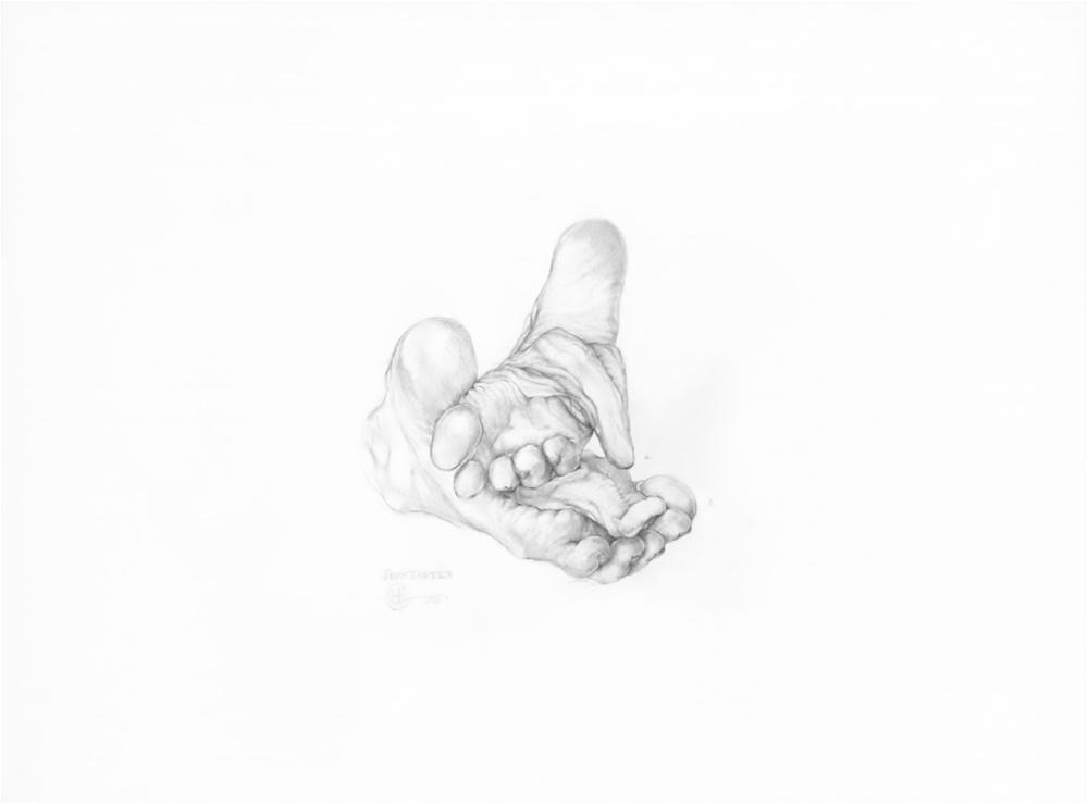 """Earth Taster,  2016. Graphite sur papier, 18' x 24""""."""