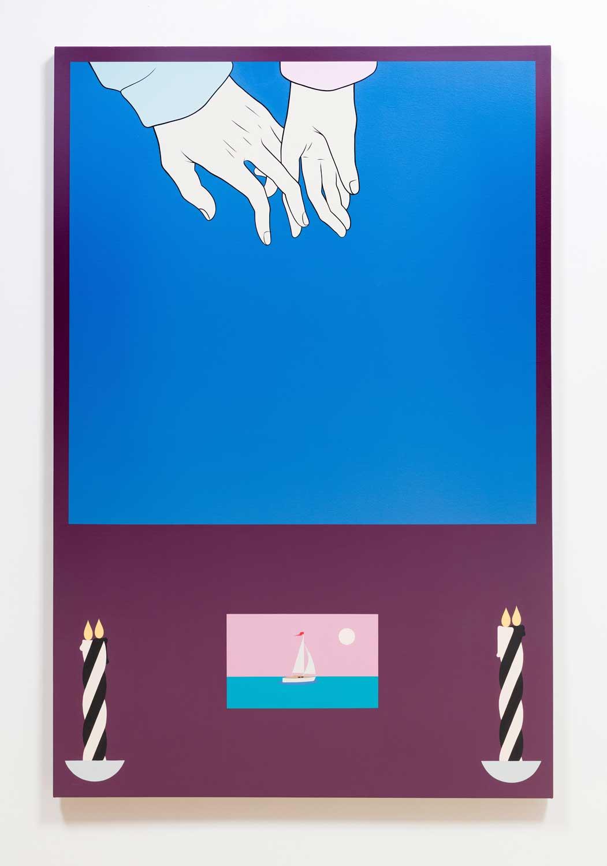 """The Journey , 2017, Acrylique sur toile, 62"""" x 48"""""""