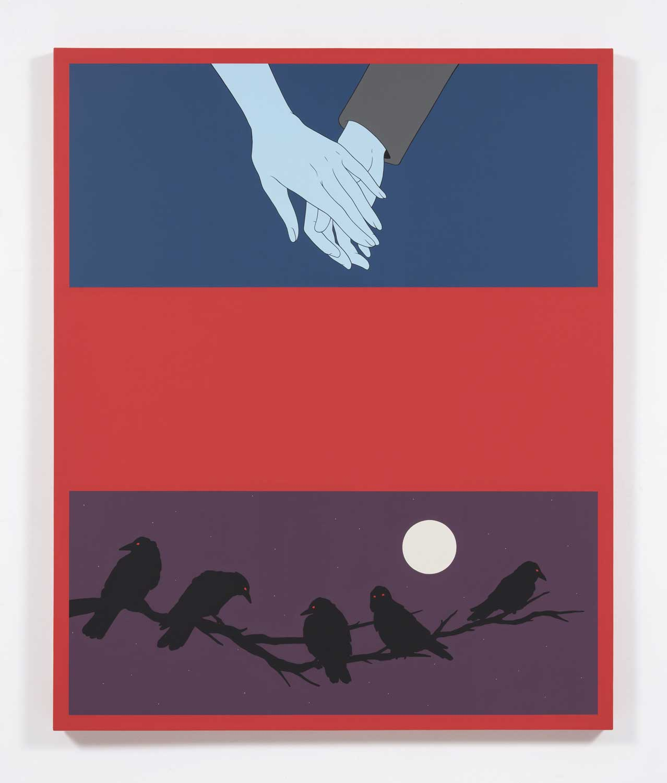 "Unwanted Company , 2018, Acrylique sur toile, 55"" x 45"""