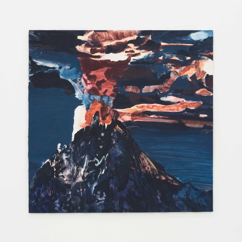 "Magic Mountain , 2015, Huile sur panneau, 23 ¾"" x 23 ¾"""