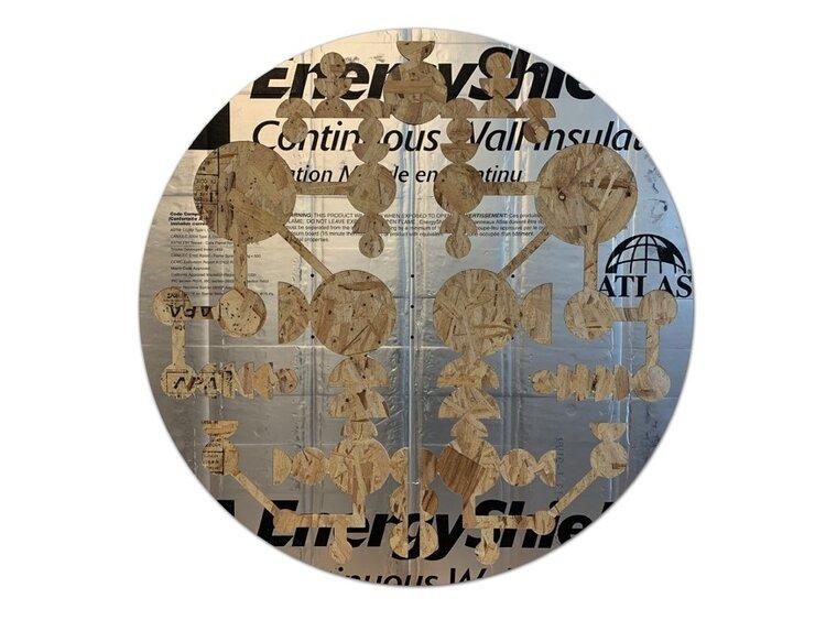 Energy Shield , 2019, Mousse, contreplaqué, Plexiglass, 45″ x 45″ x 4″