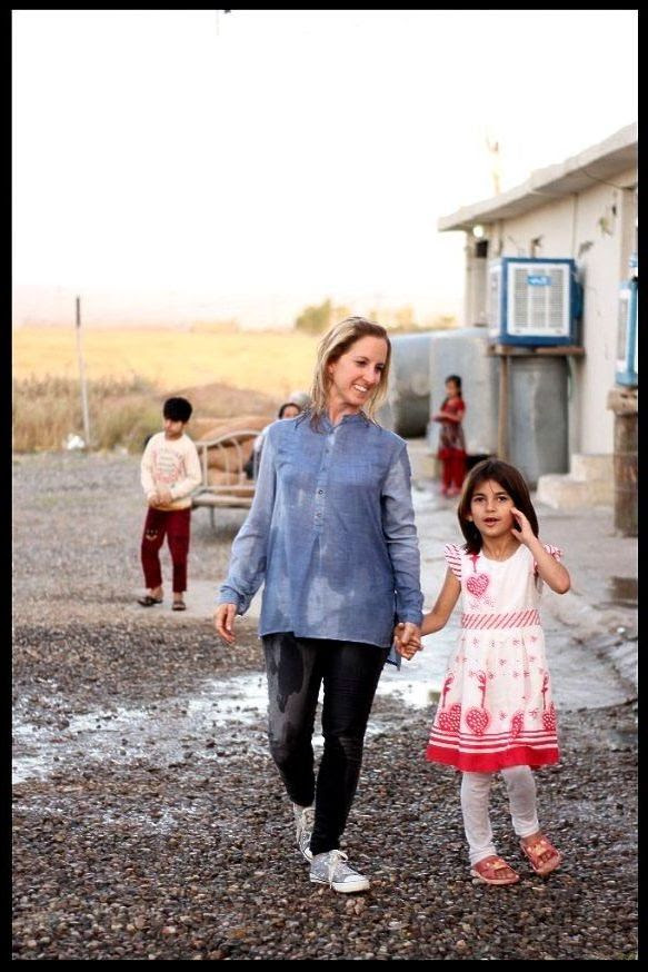 Visiting a Yazidi community in Kurdistan last June.