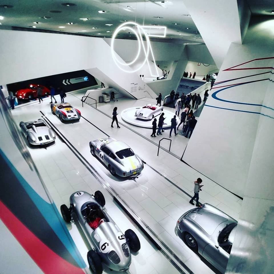 THE PORSCHE MUSEUM - The museum well designed sweeping levels allows views from all areas