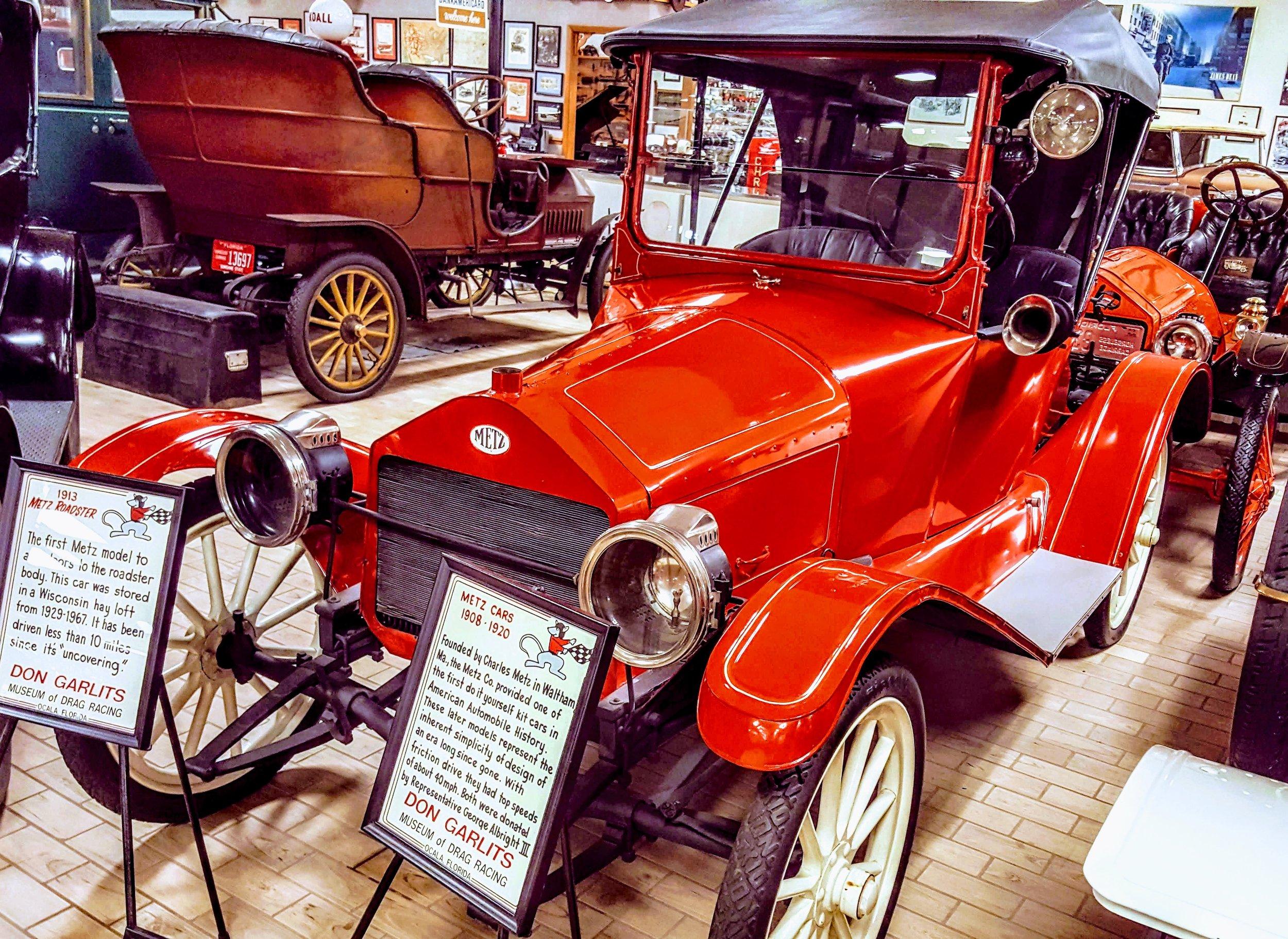1913 Metz Roadster at the Don Garlit's Museum of Dragon Racing