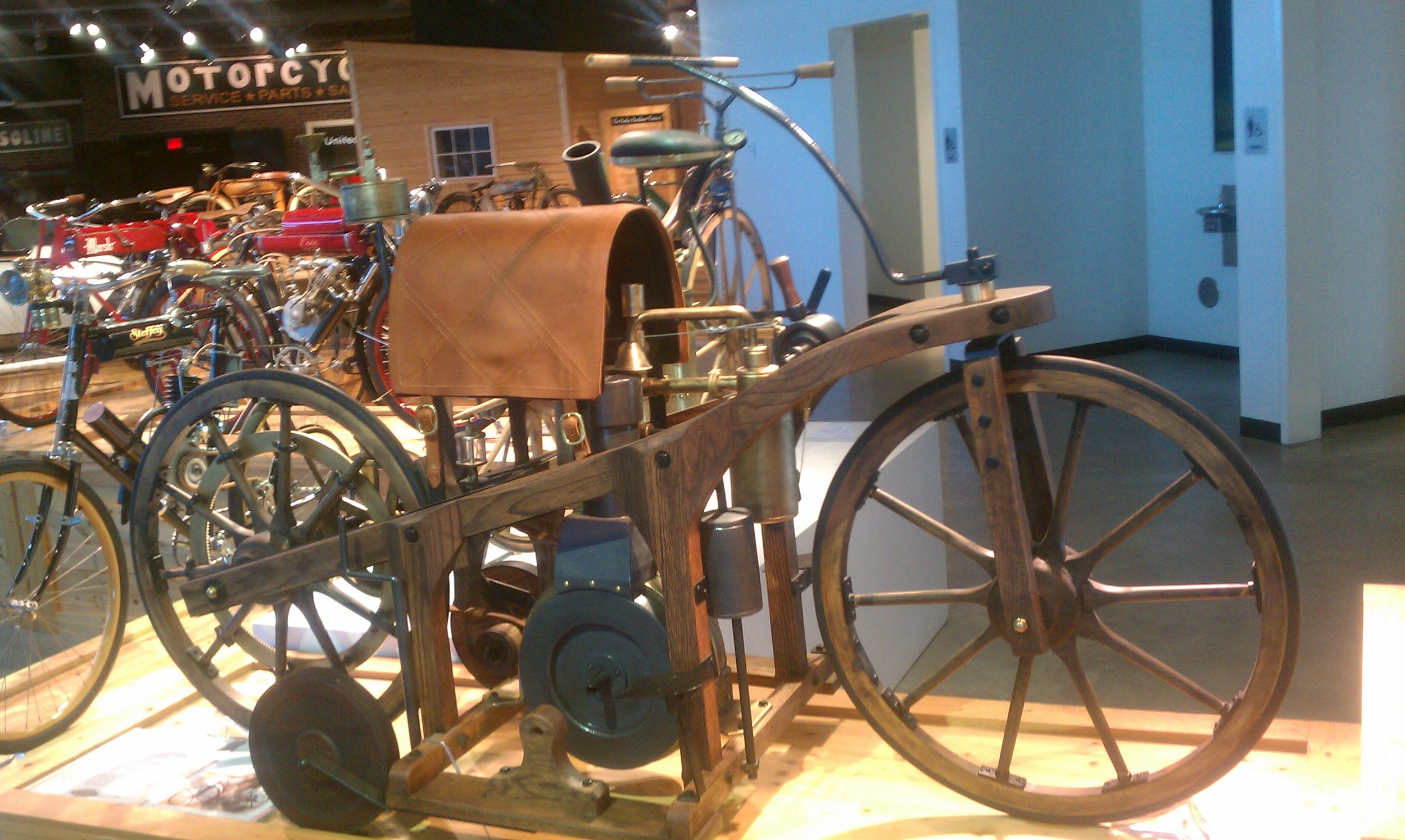 Barber Motorsports Museum in Birmingham, Alabama - My first time to see a replica of the 1885 Daimler Reitwagen, an impressive motorcycle-centric museum designed with sweeping views of the entire facility. Definitely a MUST visit for any motorcycle enthusiasts.