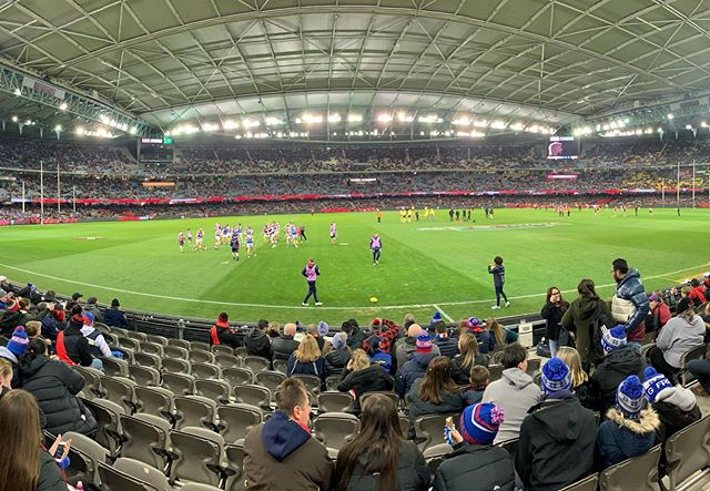 Time for footie! (Guess that's what they call it here?) let's go @essendonfc