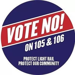 Today is Election Day in the City of Phoenix! Please join me in voting #NoOn105 and #NoOn106!  There are 20 Voting Centers throughout the City and you can vote at any of them. Check the City website for the full list: https://www.phoenix.gov/cityclerksite/Documents/VCMap_VCLocationList_AUG2019_combined.pdf