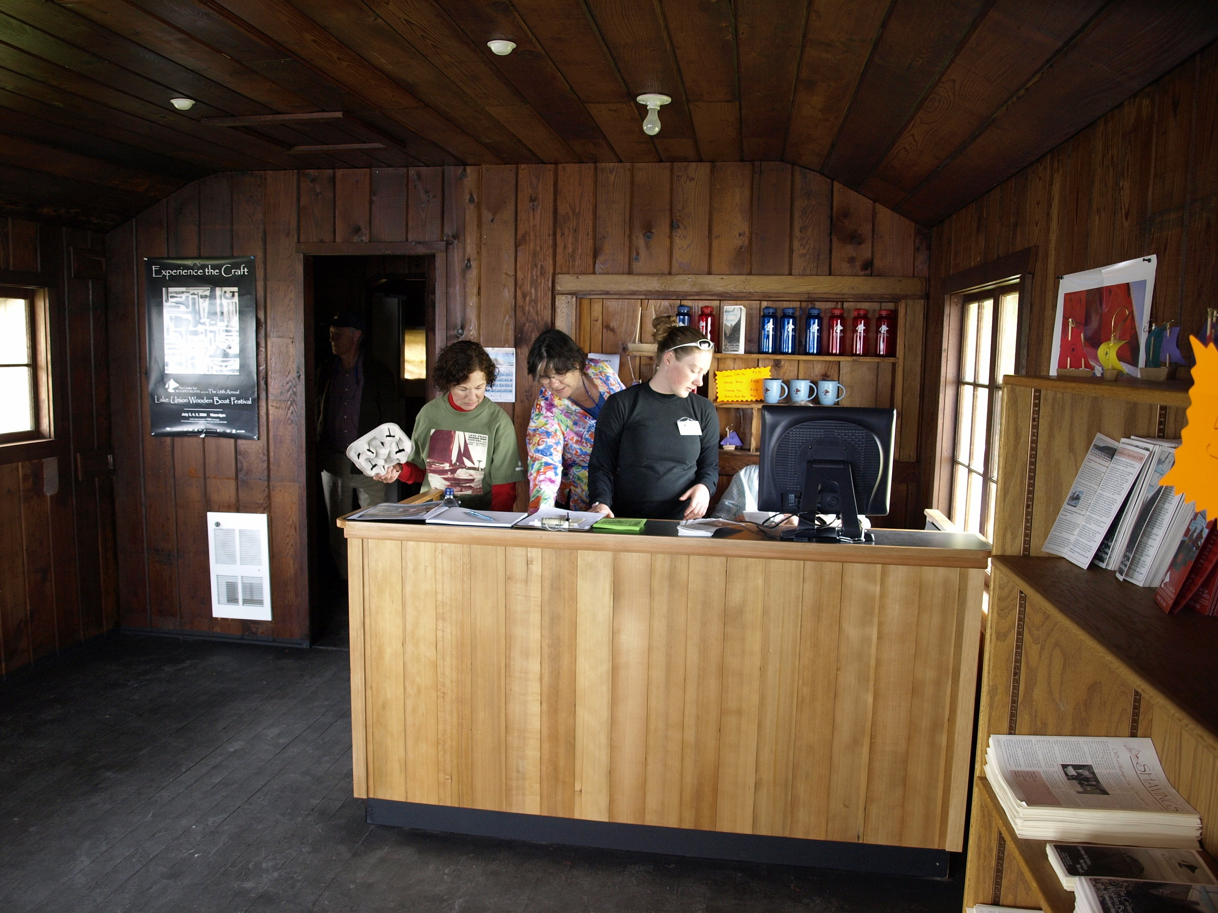 Cama Beach Front Desk on Opening Day