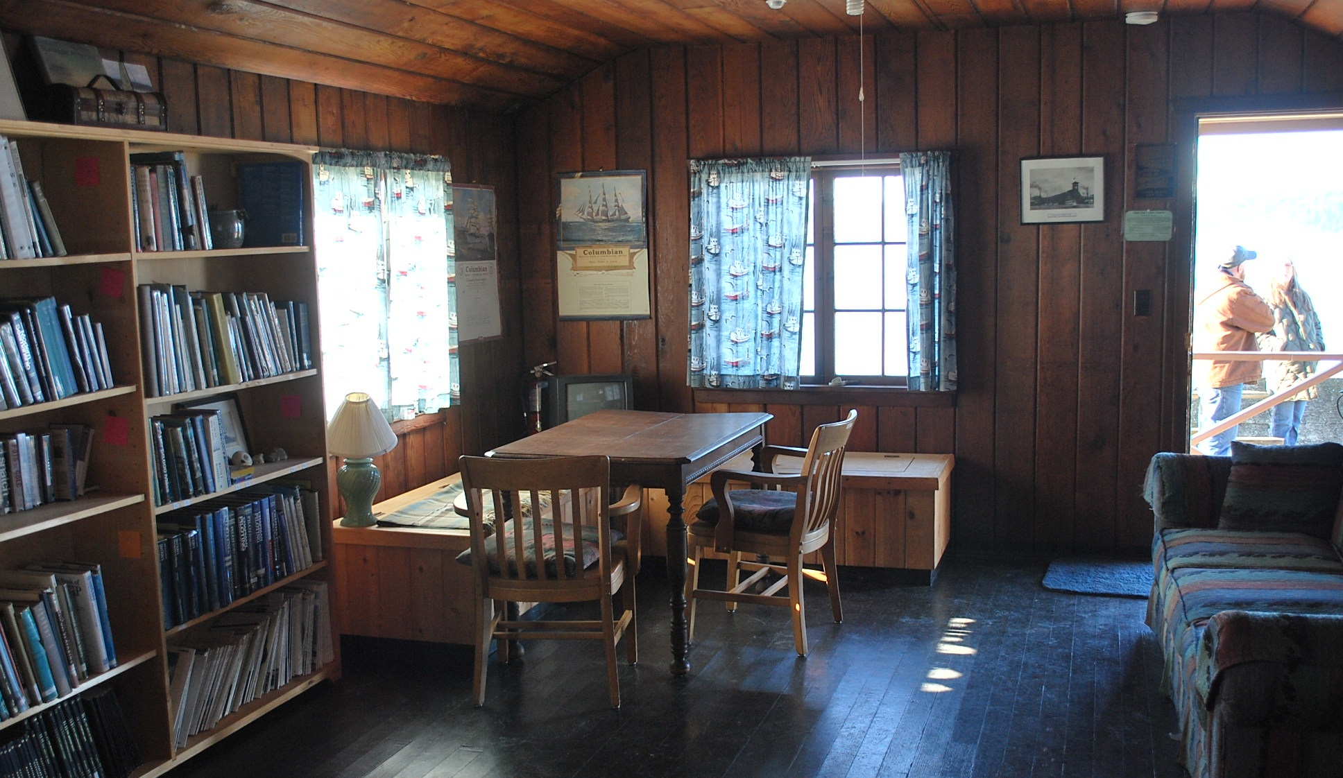Boatman's Cabin Living Room from Kitchen