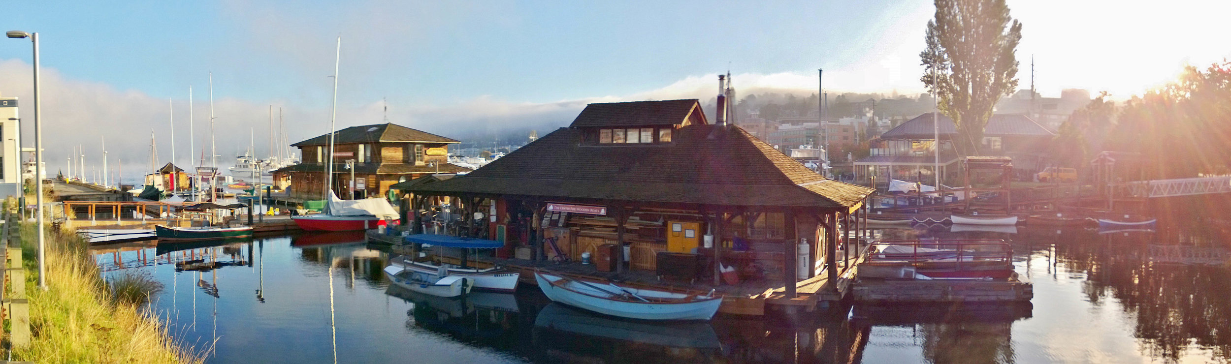 Panoramic View of the Original Boatshop and Boathouse