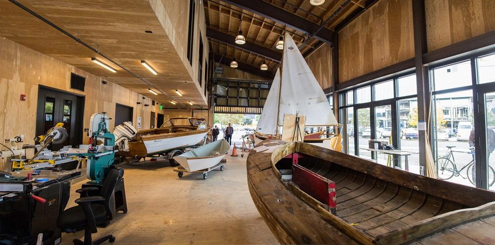 Inside the Bill Garden Boat Shop