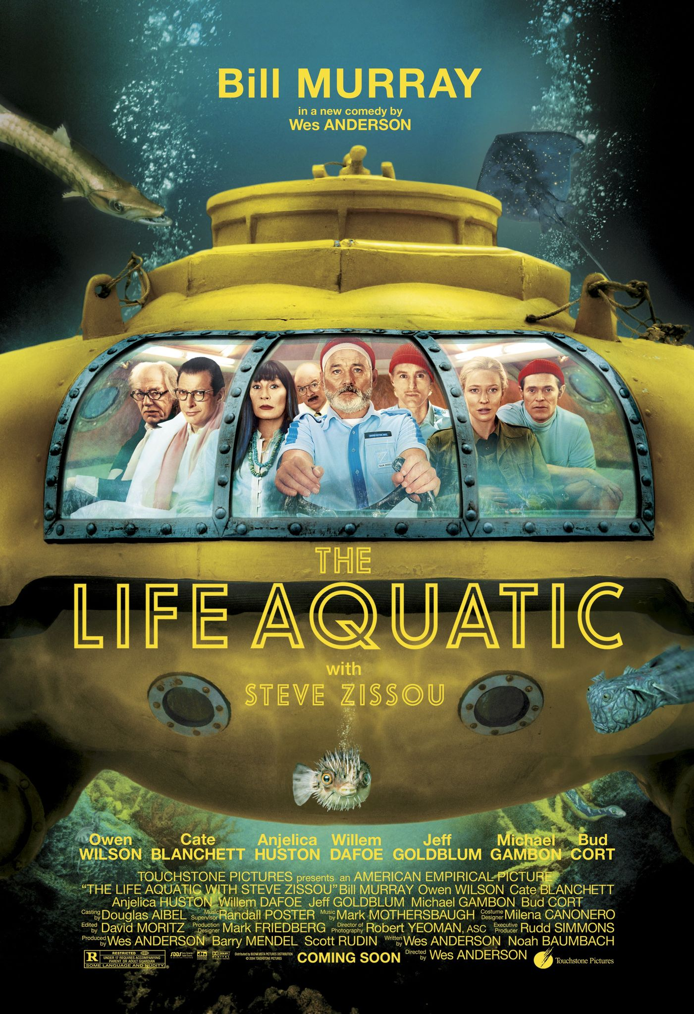 Life Aquatic with Steve Zissou movie cover