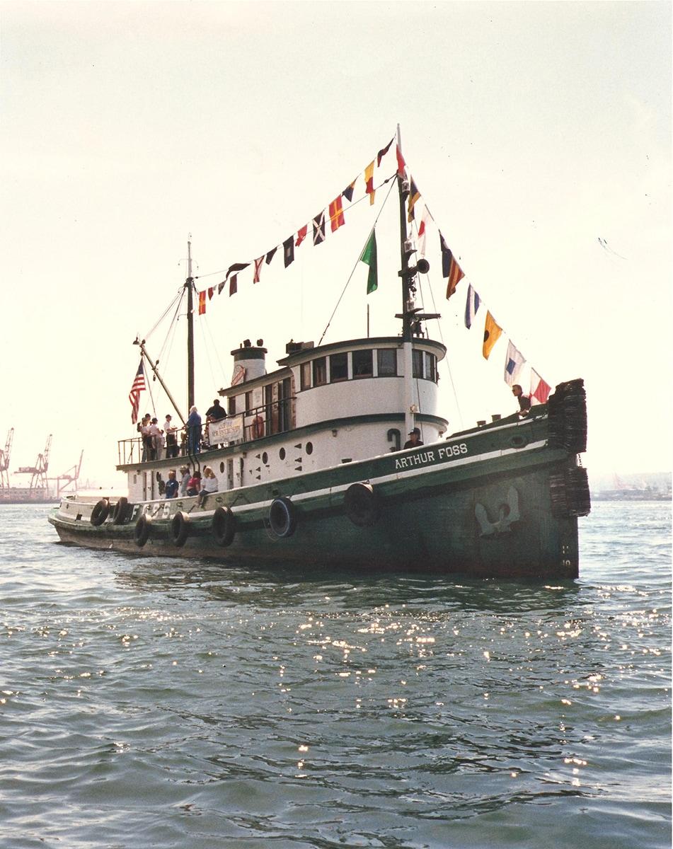Vintage photo of the Arthur Foss