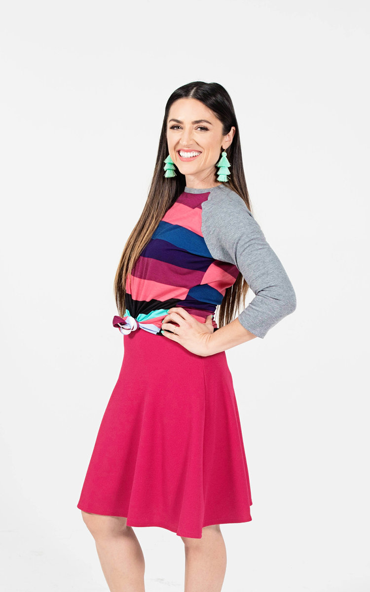 RANDY - With LuLaRoe, comfort is key and we often liken our dresses and skirts to a t-shirt, in terms of their wearability and comfort. This unisex knit tee resembles a baseball tee with its raglan, mid-length sleeves—in a contrasting, patterned fabric. It is everything a t-shirt should be—stylish and comfortable.
