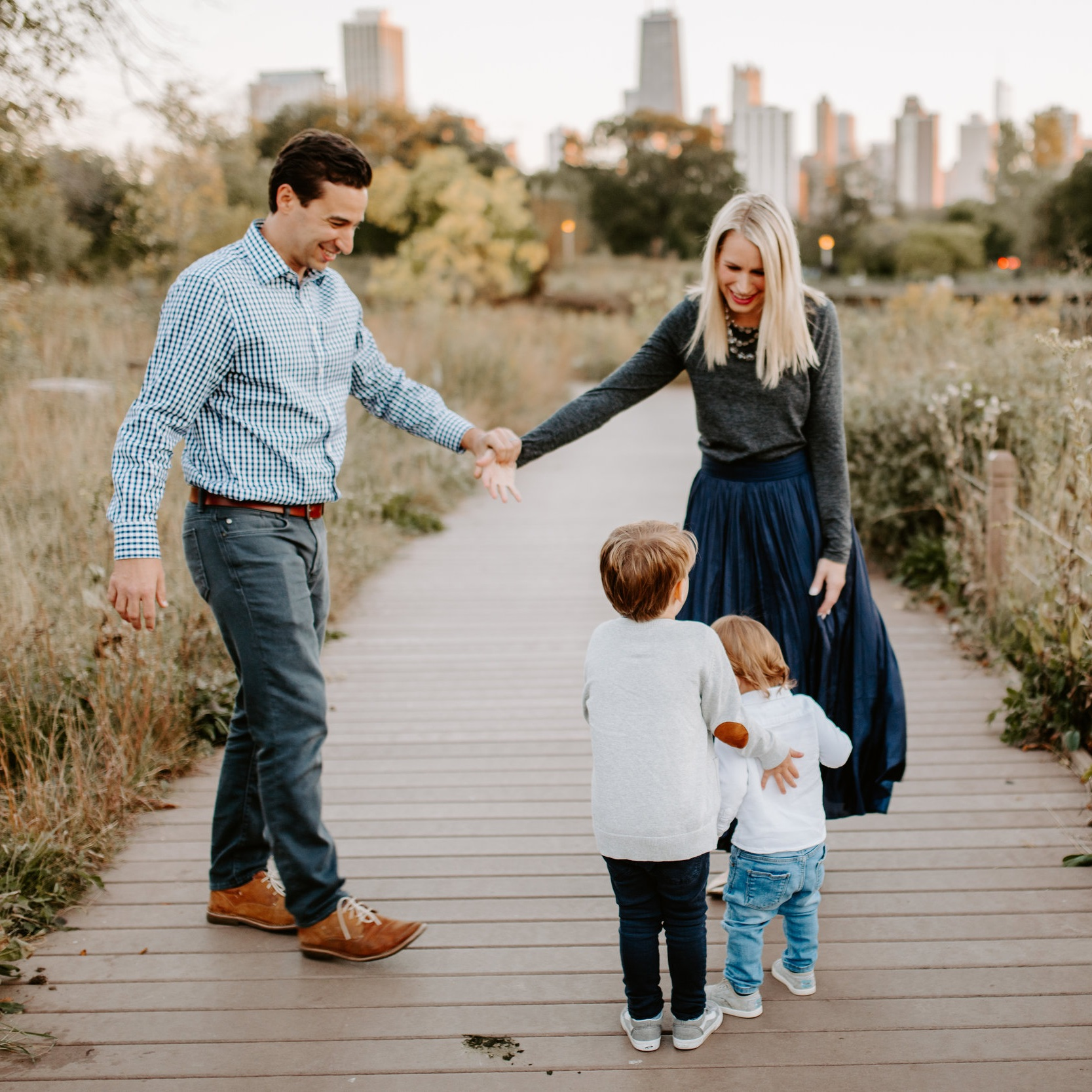 Lincoln Park Fall Family Photo by Kerri Carlquist Photography
