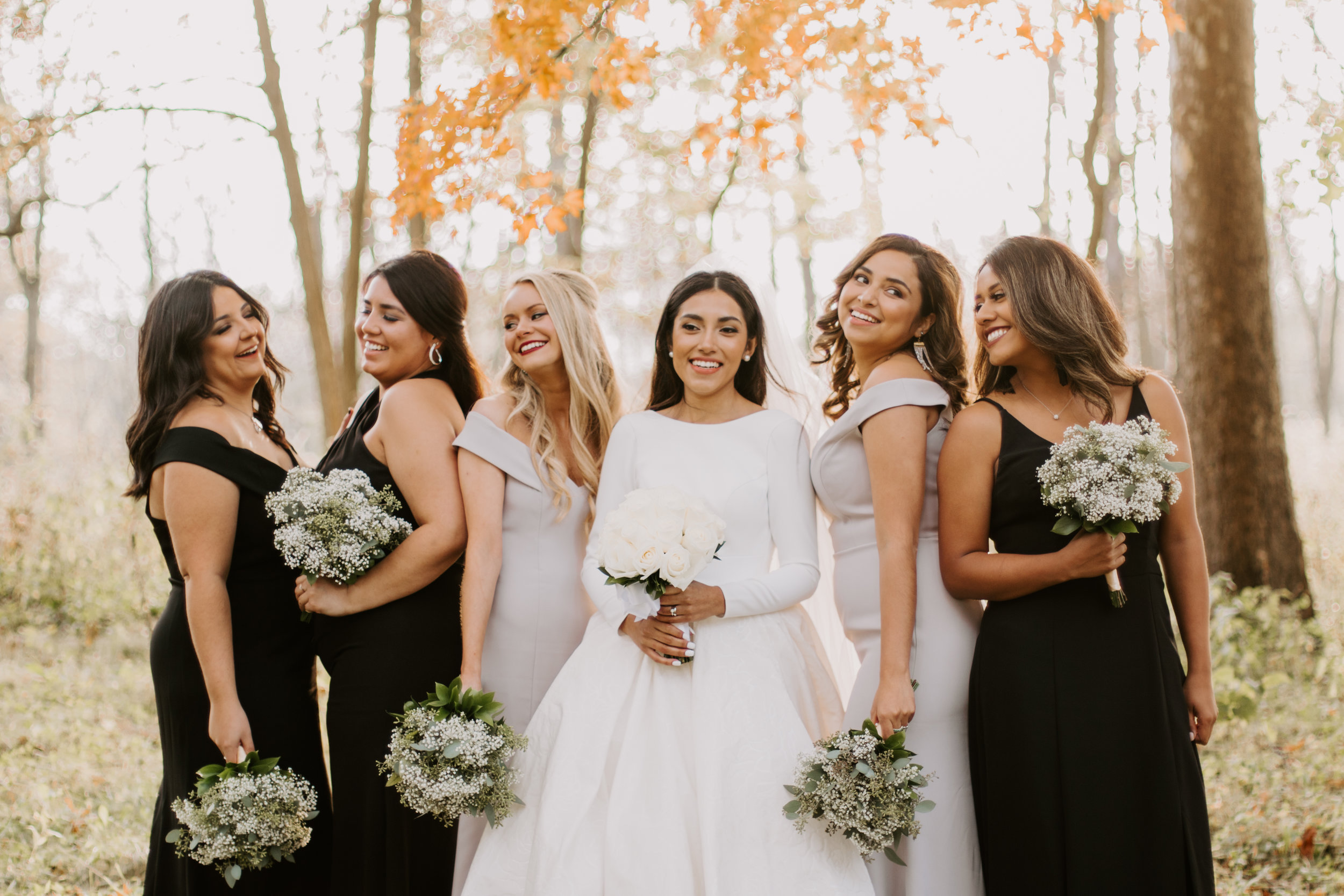 Arlington Heights Wedding Forest Preserve Fall Photo by Kerri Carlquist Photography